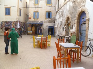I love little squares like this.  Essaouira has more than its share.